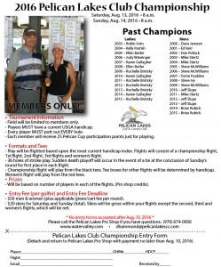 2016 Club Championship Flyer